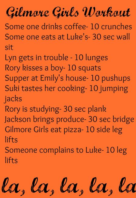 Gilmore girls work out